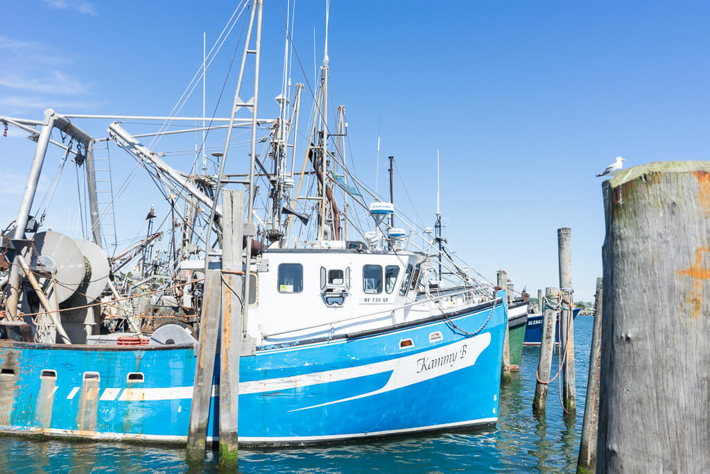 Fishing Boats in Montauk Harbor
