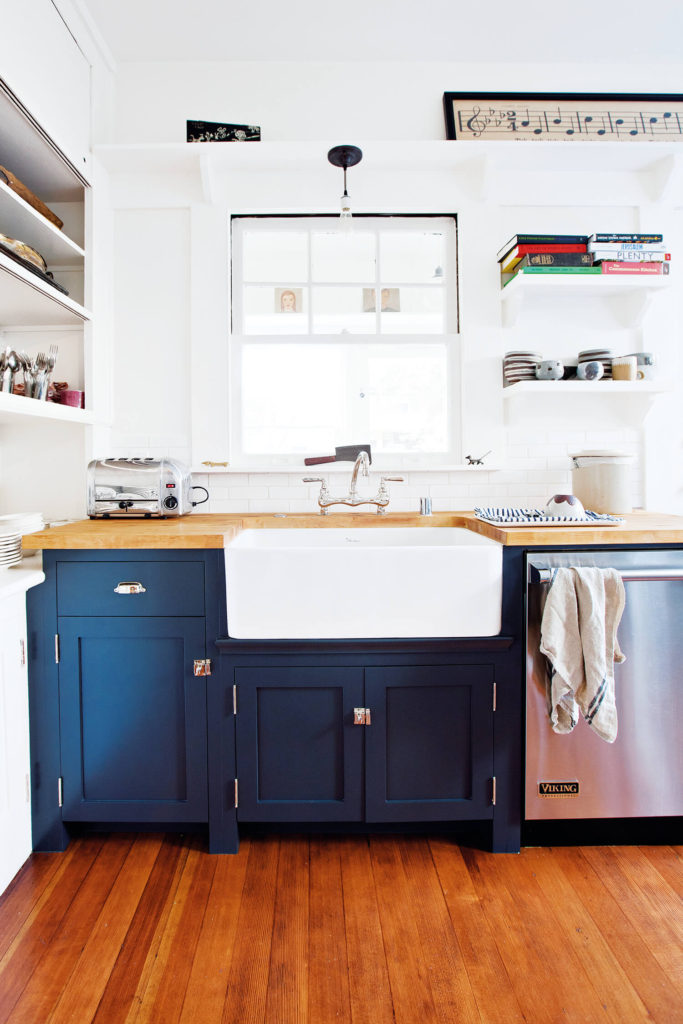 Kitchen details in the home of Jamie Kidson, co-founder of Atomic Garden.