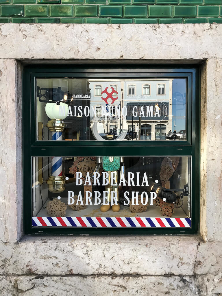 Lisbon Barber Shop Window