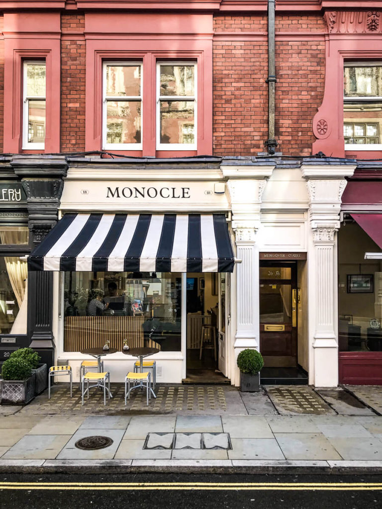 Monocle cafe, The Shopkeepers Going Places guide to Marylebone.