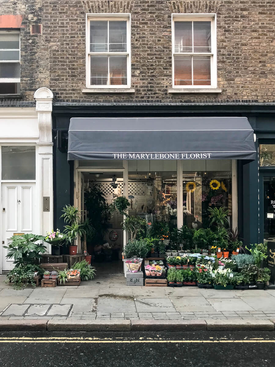 Gainsborough Flowers, The Shopkeepers Going Places guide to Marylebone, London.