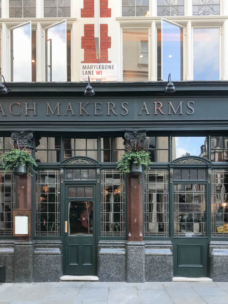 The Coach Makers Arms, The Shopkeepers Going Places guide to Marylebone, London.