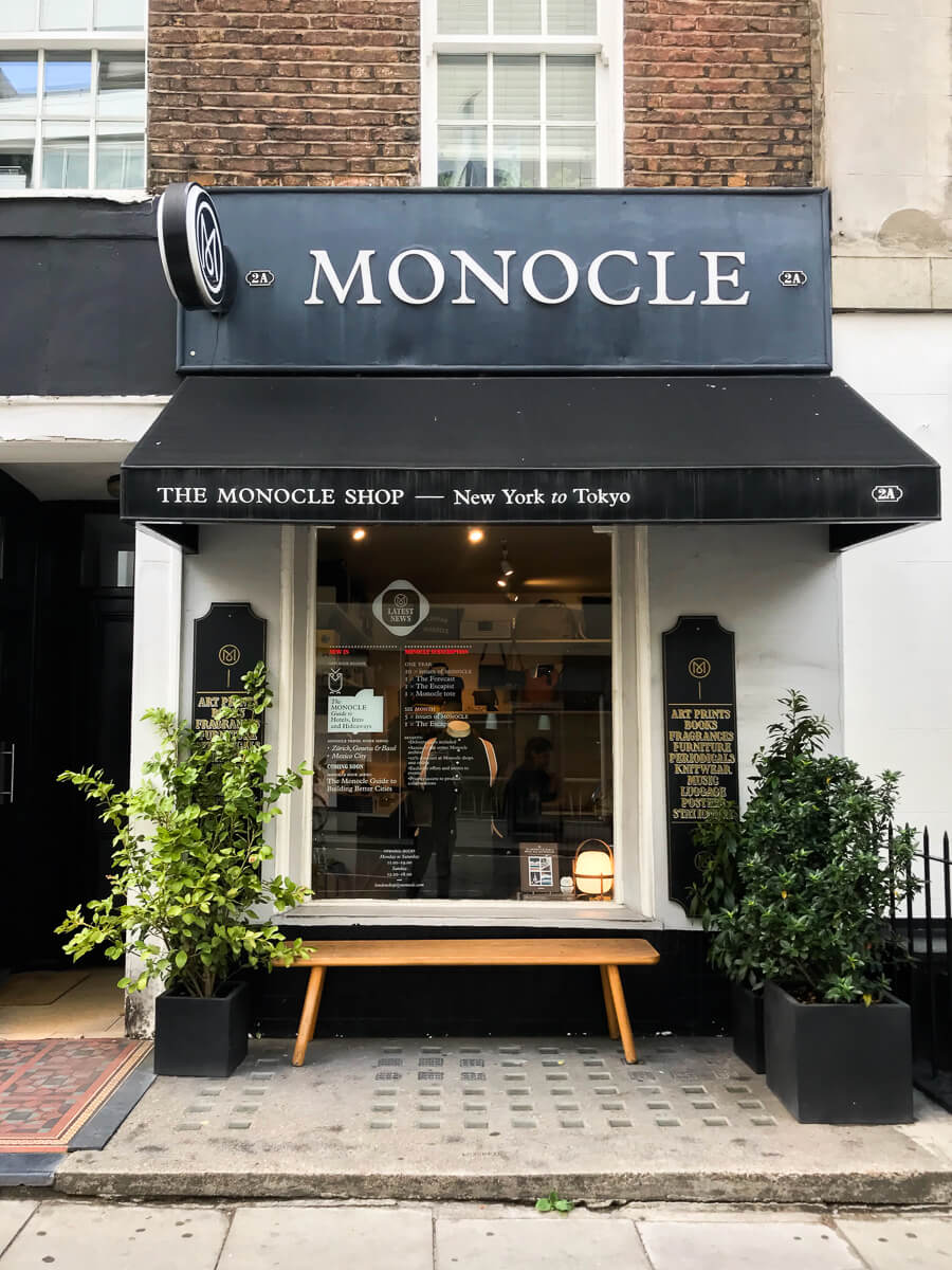 Monocle, Going Places guide tp Marylebone
