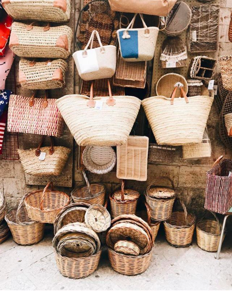 Baskets at the Market in Bari, Italy