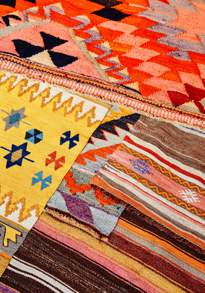 kilims and lilim pillows at Wild Heart Free Soul, Berlin