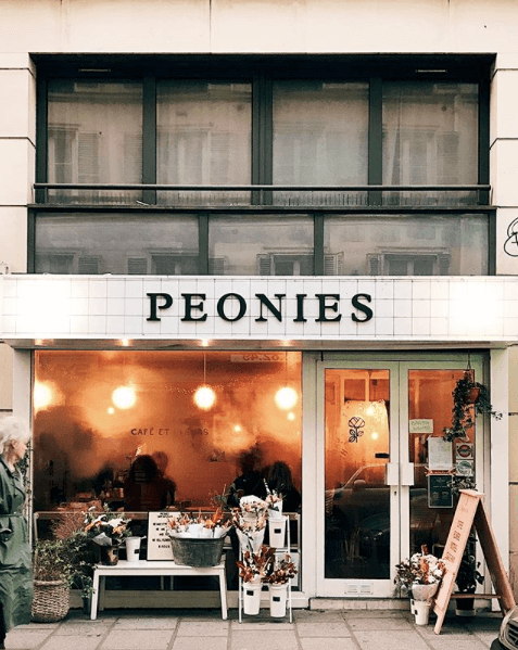 Peonies, Best Paris Coffee Shops