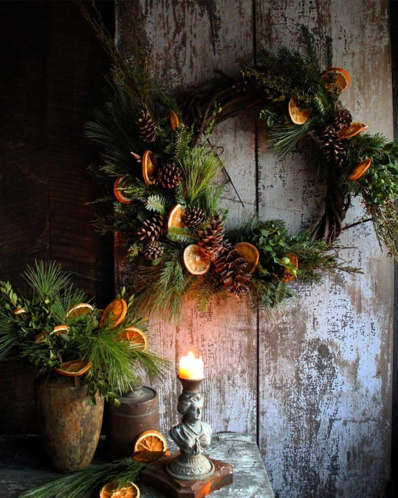Dried Orange wreath at Hort and Pott