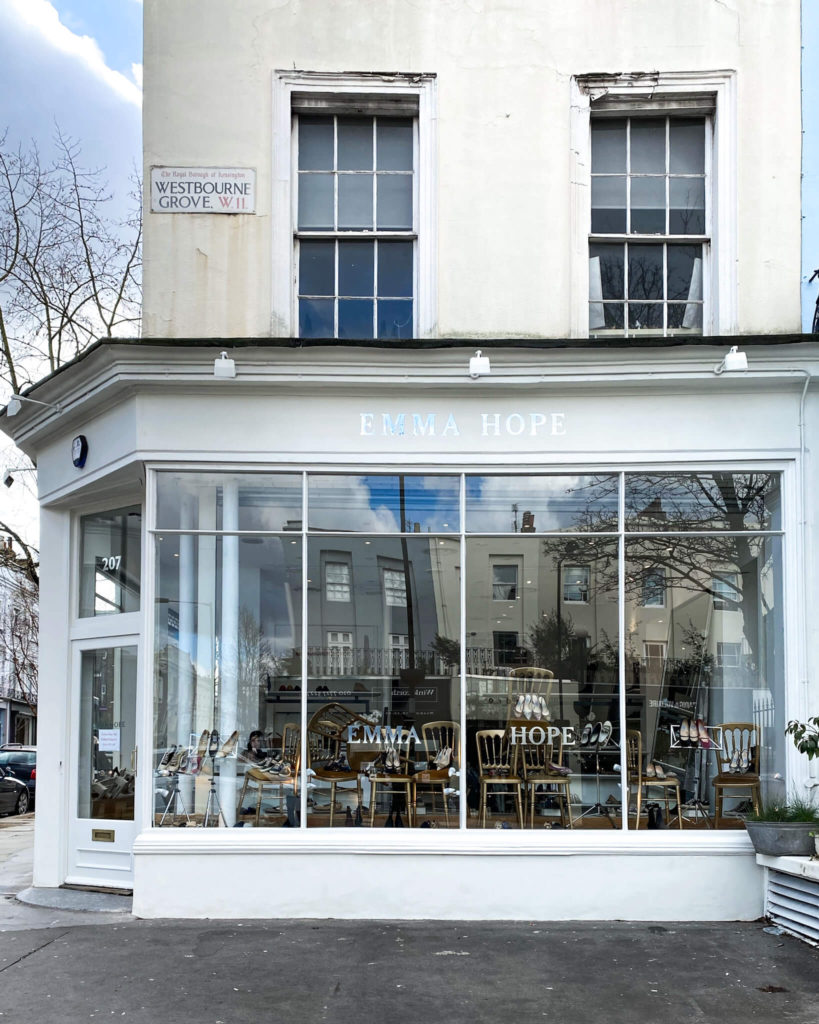 Emma Hope shoe shop Notting Hill