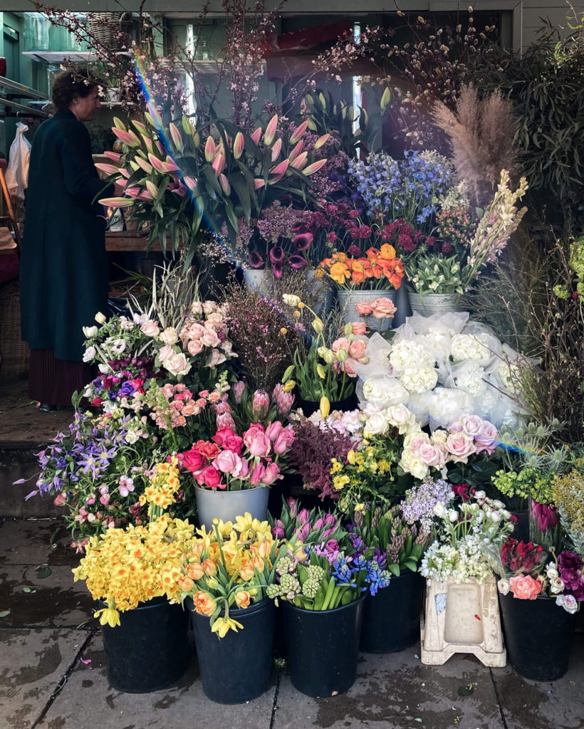 Harper & Tom's flower kiosk, Notting Hill