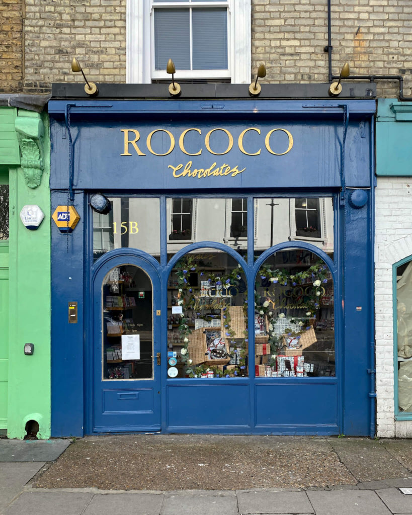 Rococo, chocolate shop, best Notting Hill shops