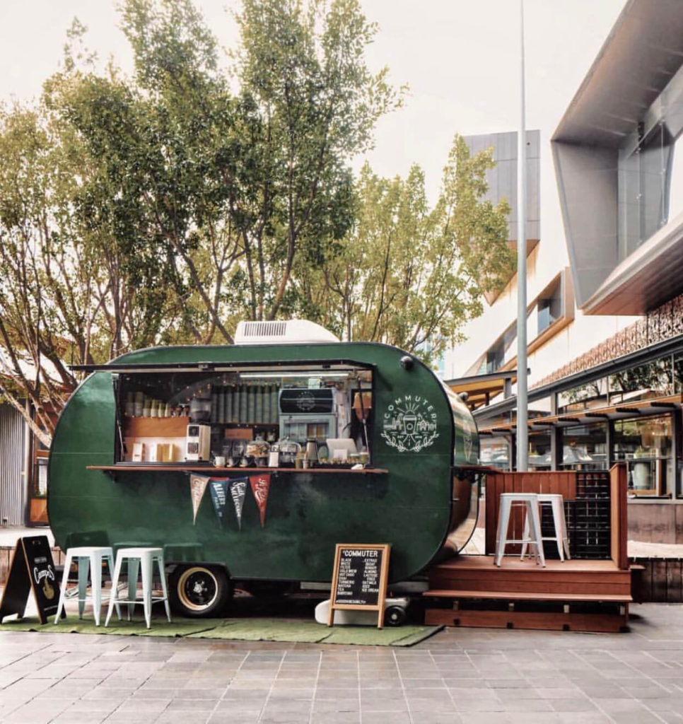 Commuter Coffee, shops with wheels