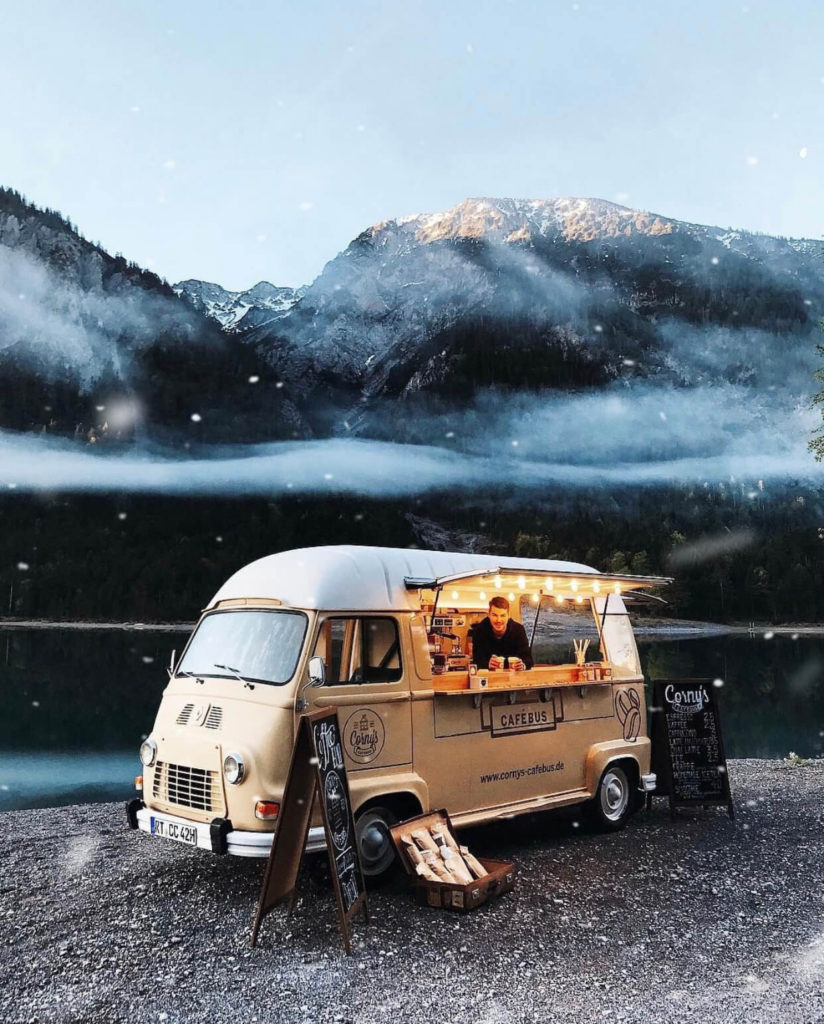 Corny's finest coffee bus, shops with wheels