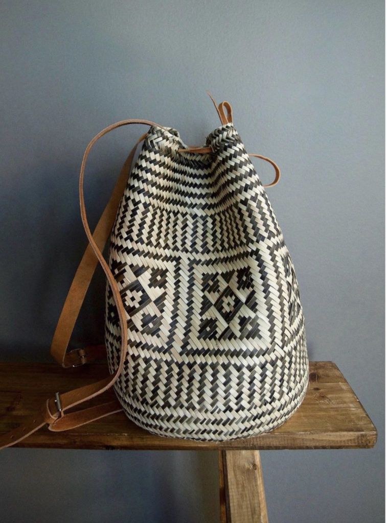 woven basket bag hecho and co