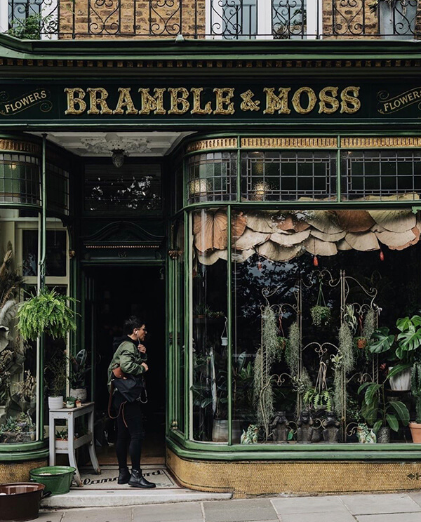 bramble and moss richmond shopfront facades with or without people