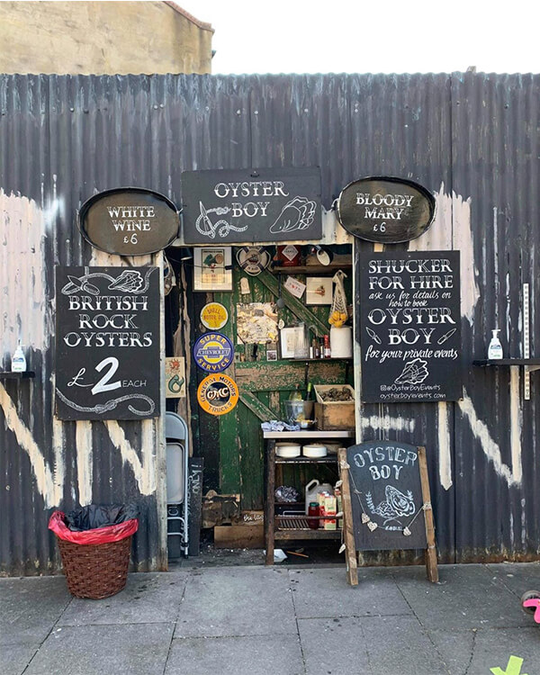 oyster boy shopfront facades with or without people