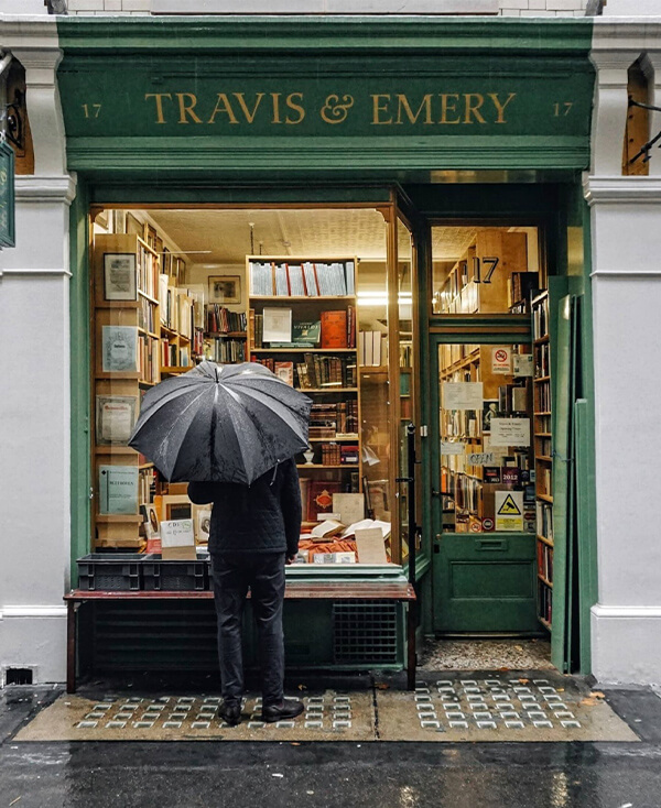 Travis and emery shopfront facades with or without people