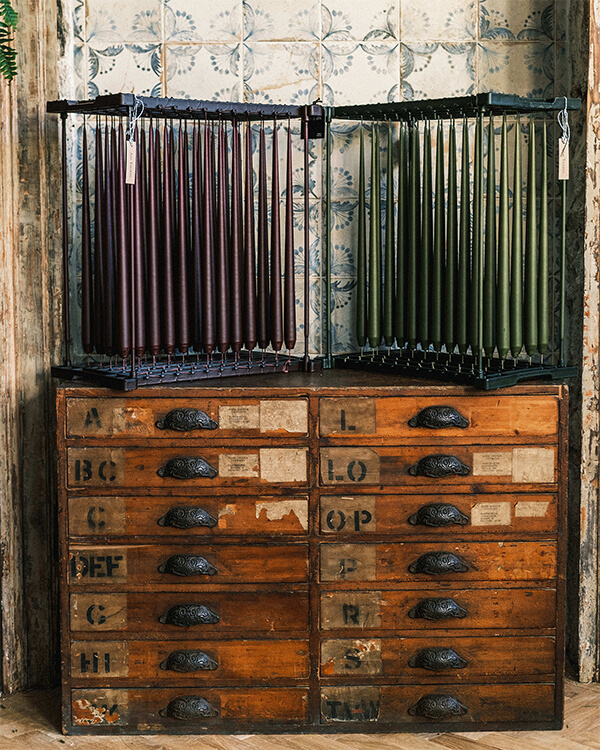 tapers and vintage drawers