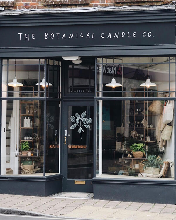 The Botanical Candle Co., Shaftesbury  2020 best beauty and apothecary shops