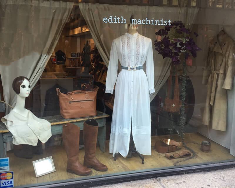 Edith Machinist vintage shop lower east side nyc