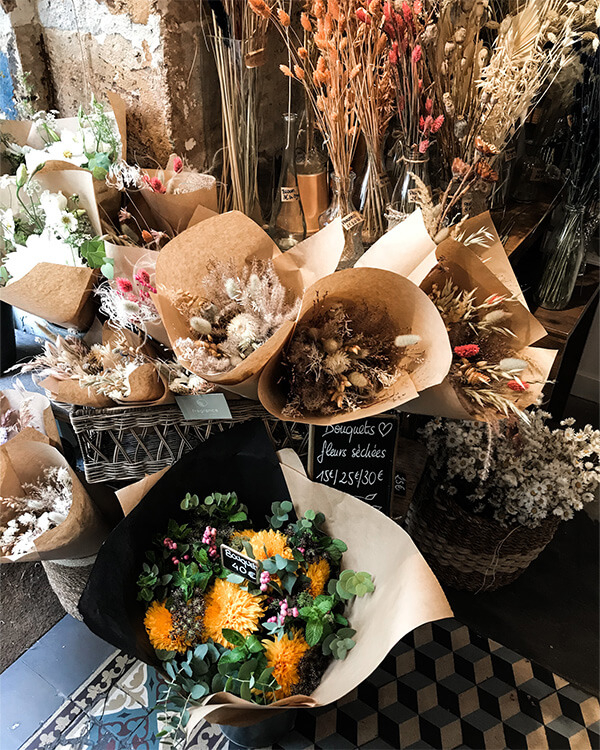 dried flowers at Fragrance