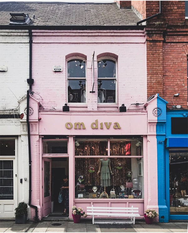 Pink storefronts Dublin