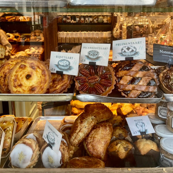 Baked goods at Himschoot bakery Ghent